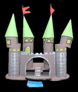 castillo rollitos de papel