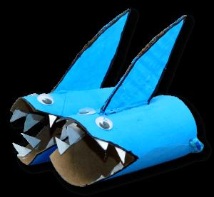 binoculares tiburon rollitos de papel